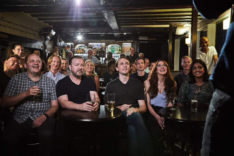 Ricky Gervais After Life Pub Scene